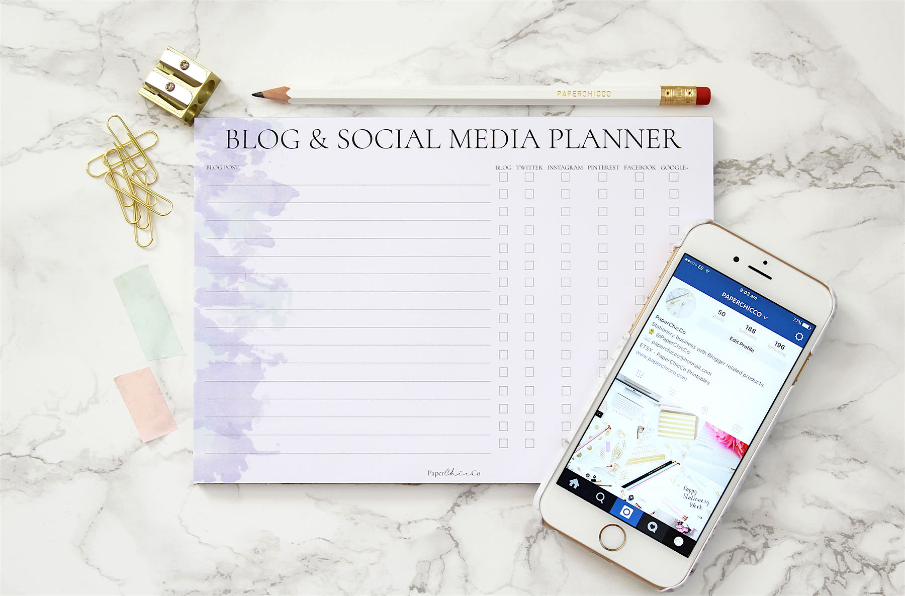 PaperChicCo Social Media Planner
