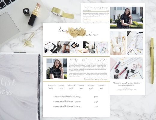 Updated Media Kit for Beauty and the Chic