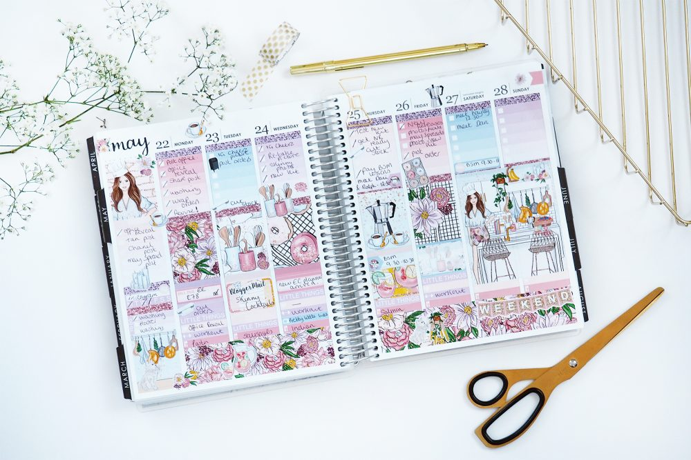 May Planner Spreads - Beauty and the Chic